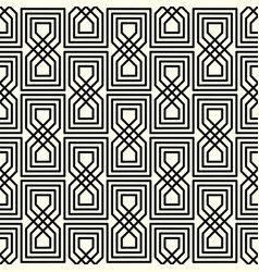geometric interlaced black pattern vector image