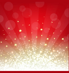 Golden and red background with stars vector