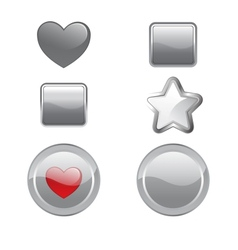 gray buttons vector image