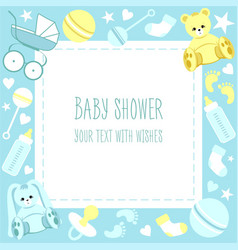 greeting baby shower card vector image