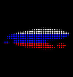 Halftone russian puddle icon vector