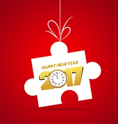 Happy new year 2017 Gold clock vector