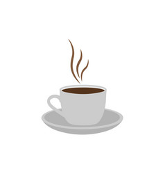 hot coffee logo icon design template isolated vector image