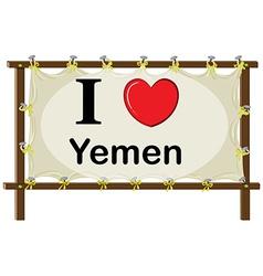 I love Yemen vector