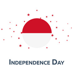 Independence day of indonesia patriotic banner vector