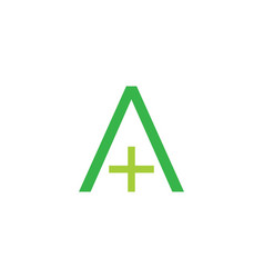 initial letter a cross plus medical logo icon vector image