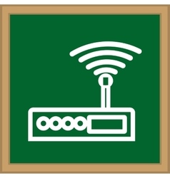 Internet wifi router vector