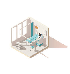 isometric low poly ultrasound room vector image