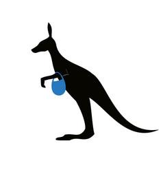 Kangaroo emblem vector