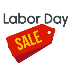 labor day badge sale logo icon flat style vector image