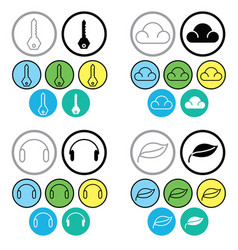 line icon set isolated on white background vector image