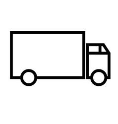 lorry icon vector image vector image