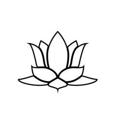 lotus flower black color icon vector image