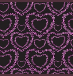 Love seamless pattern romantic doodle hearts vector image