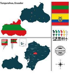 Map of tungurahua ecuador vector
