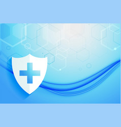 Medical healthcare system protection shield vector