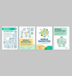 Mobile marketing brochure template layout vector