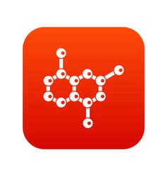 molecule icon digital red vector image