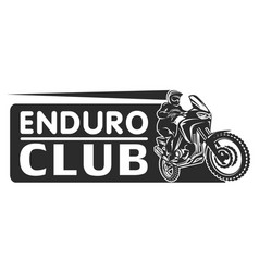 Motocross race enduro extreme motorcycle driver vector