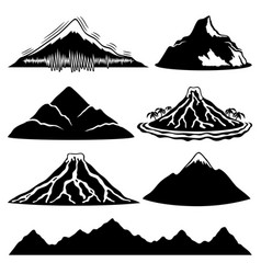 Mountains and volcanoes vector