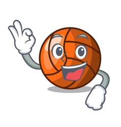 Okay volleyball character cartoon style vector