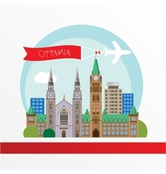 Ottawa detailed silhouette Trendy vector image