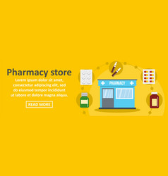 pharmacy store banner horizontal concept vector image
