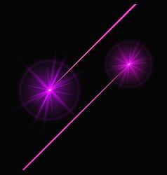 purple laser beams vector image