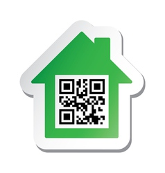 Qr code real estate sign vector