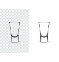realistic shot glasses vector image