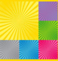 retro radial background with sunburst vector image
