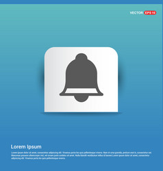 ringing bell icon - blue sticker button vector image