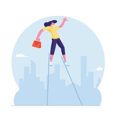 Risky business solution concept businesswoman vector