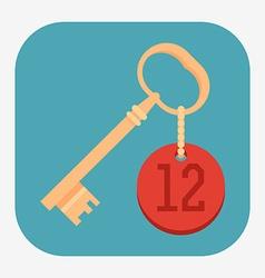 Room Key Icon vector image