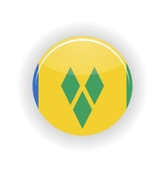Saint Vincent and Grenadines icon circle vector