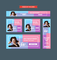 set of colorful framed sale web banners vector image