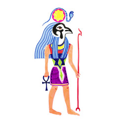 sketch marker drawing of egyptian god horus vector image