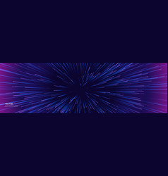 space speed background light warp and galaxy vector image