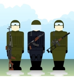 Special Forces soldiers vector