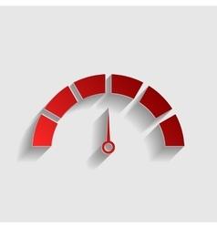 Speedometer sign vector image