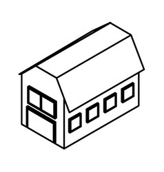 Stable farm isometric icon vector