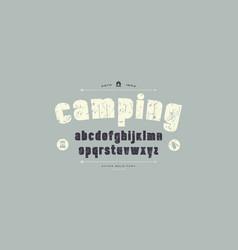 stock sans serif font alphabet typography vector image