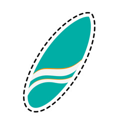 surfboard surfing icon image vector image