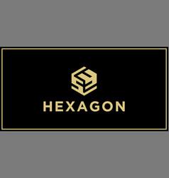 sy hexagon logo design inspiration vector image