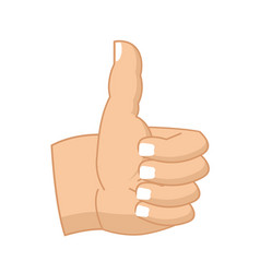 Thumbs up hand sign isolated like symbol all vector