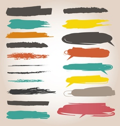 Underlining color samples vector