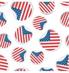 Usa flag sticker seamless pattern background vector