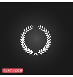 Victory laurel wreath vector