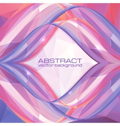 Violet abstract frame vector