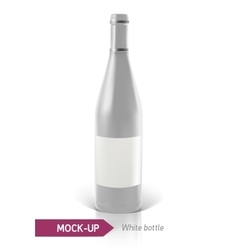 white bottles of wine or cocktail vector image
